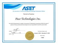 Pace ASET Permit to Practice